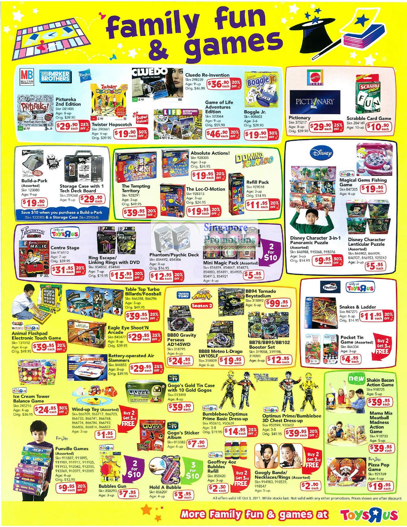Family Fun Games, Parker Brothers, Hasbro, Milton Bradley MB, Pictureka, Cluedo Re-Invention, Boggle Jr, Game of Life, Mattel Pictionary