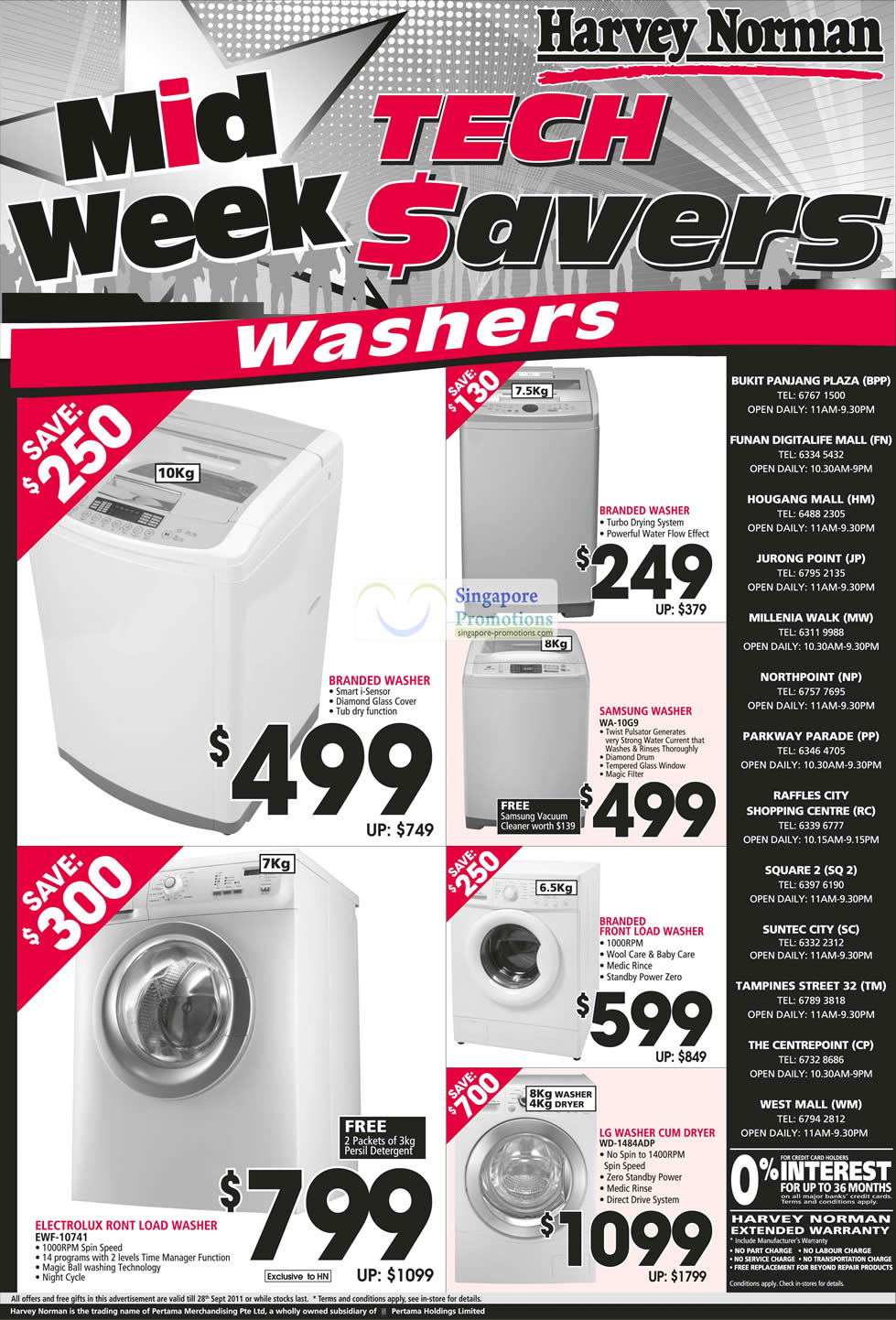 Harvey Norman Washing Machines Special Offers 22 28 Sep 2011