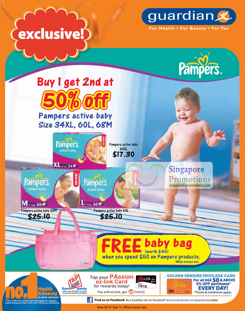 Pampers Active Baby Diapers Buy 1 Get 2nd 50 Percent Off