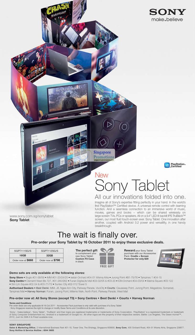 Sony 30 Sep 2011