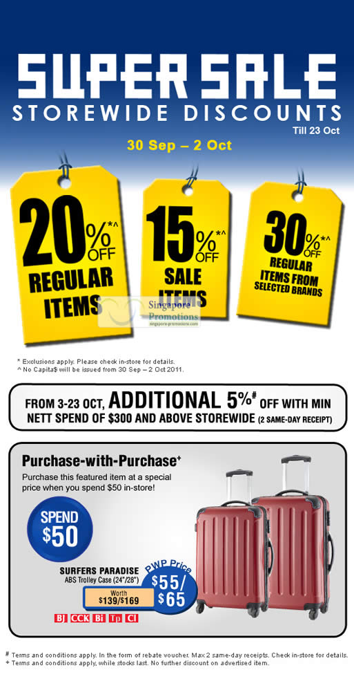 Super Sale Discounts, Additional 5 Percent, Purchase With Purchase Surfers Paradise ABS Trolley Case