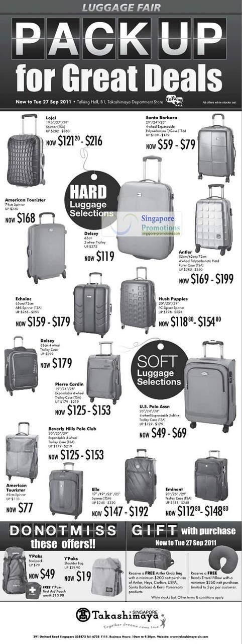 Takashimaya Luggage 15 Sep 2011