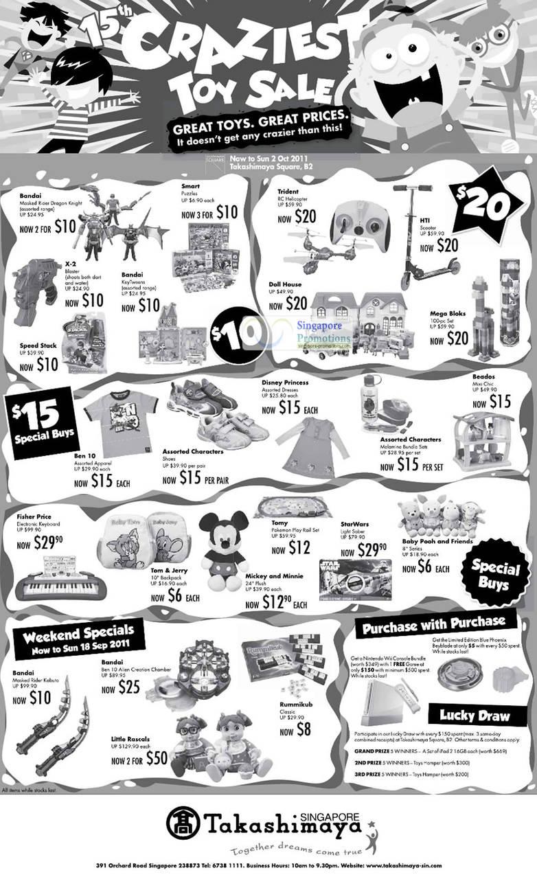 Takashimaya Toys 15 Sep 2011