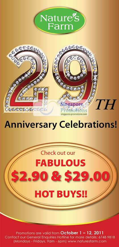 29th Anniversary Celebrations
