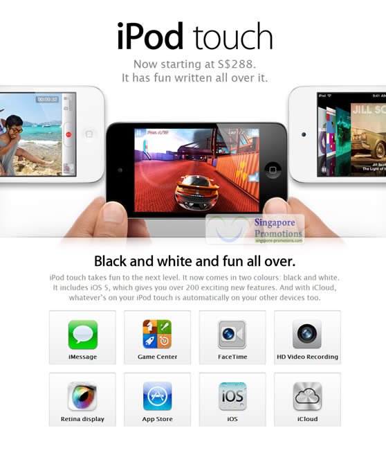 Apple iPod Touch White 14 Oct 2011