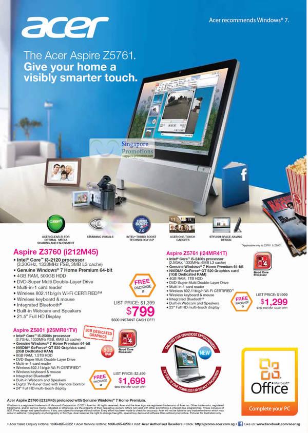 Featured image for Acer Notebooks, Tablets, Mini PCs, Desktop PCs, AIOs & Netbooks Price List 31 Oct  – 20 Nov 2011