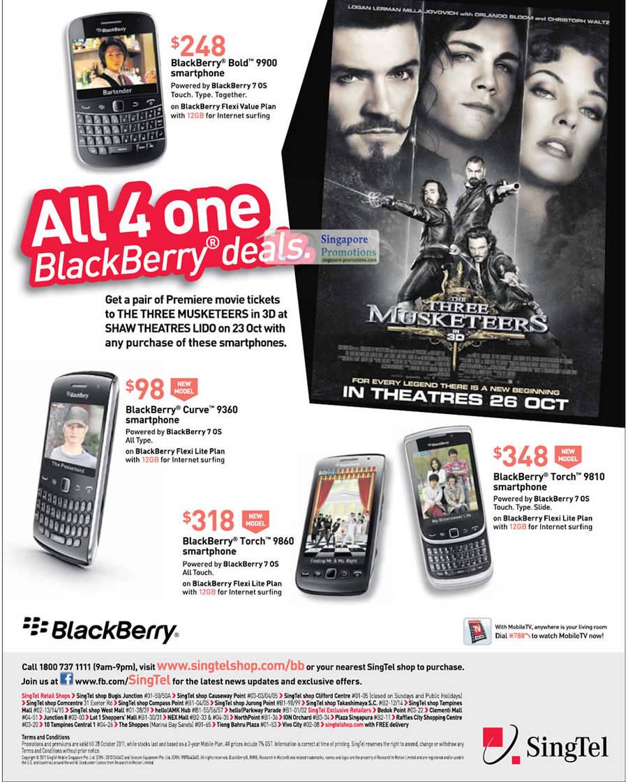 Blackberry Bold 9900, Blackberry Curve 9360, Blackberry Torch 9860, Blackberry Torch 9810