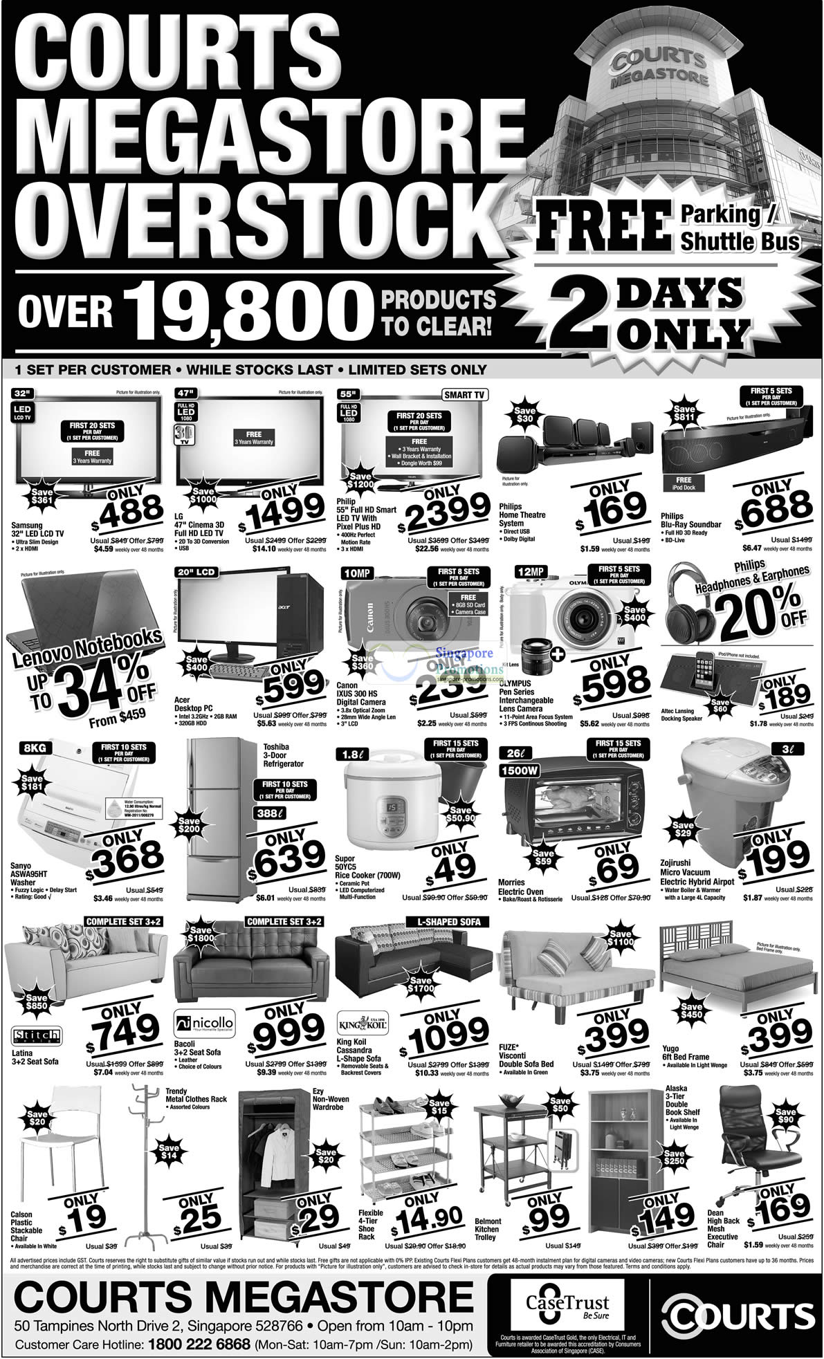 Canon IXUS 300 HS Digital camera, Supor 50YC5 Rice Cooker, Sanyo ASWA95HT Washing Machine, Stitch Design Latina Sofa, Nicollo Bacoli
