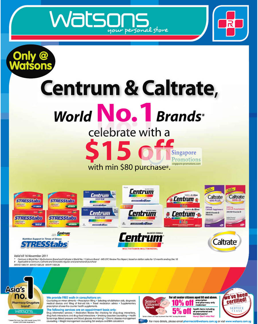 Centrum Caltrate 15 Dollars Off With Minimum Purchase