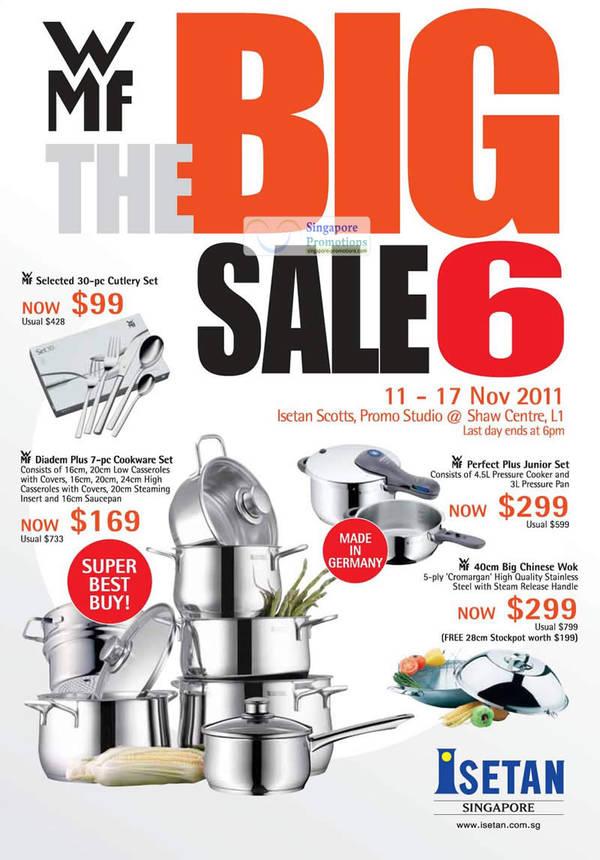 Featured image for Isetan WMF Kitchenware Big Sale 6 11 – 17 Nov 2011