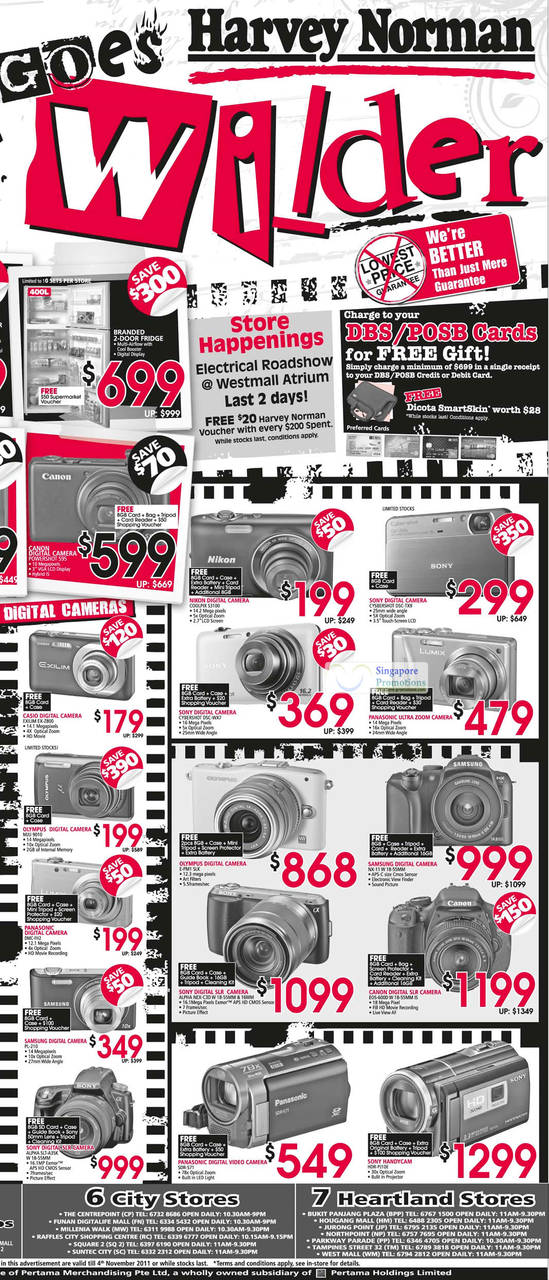 Digital Cameras, Video Camcorders