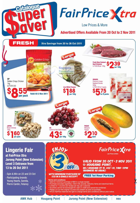 Groceries, Fresh, Okaido Premium Frozen Seafood Chunks, CP Golden Crispy Chicken, Linerie Fair