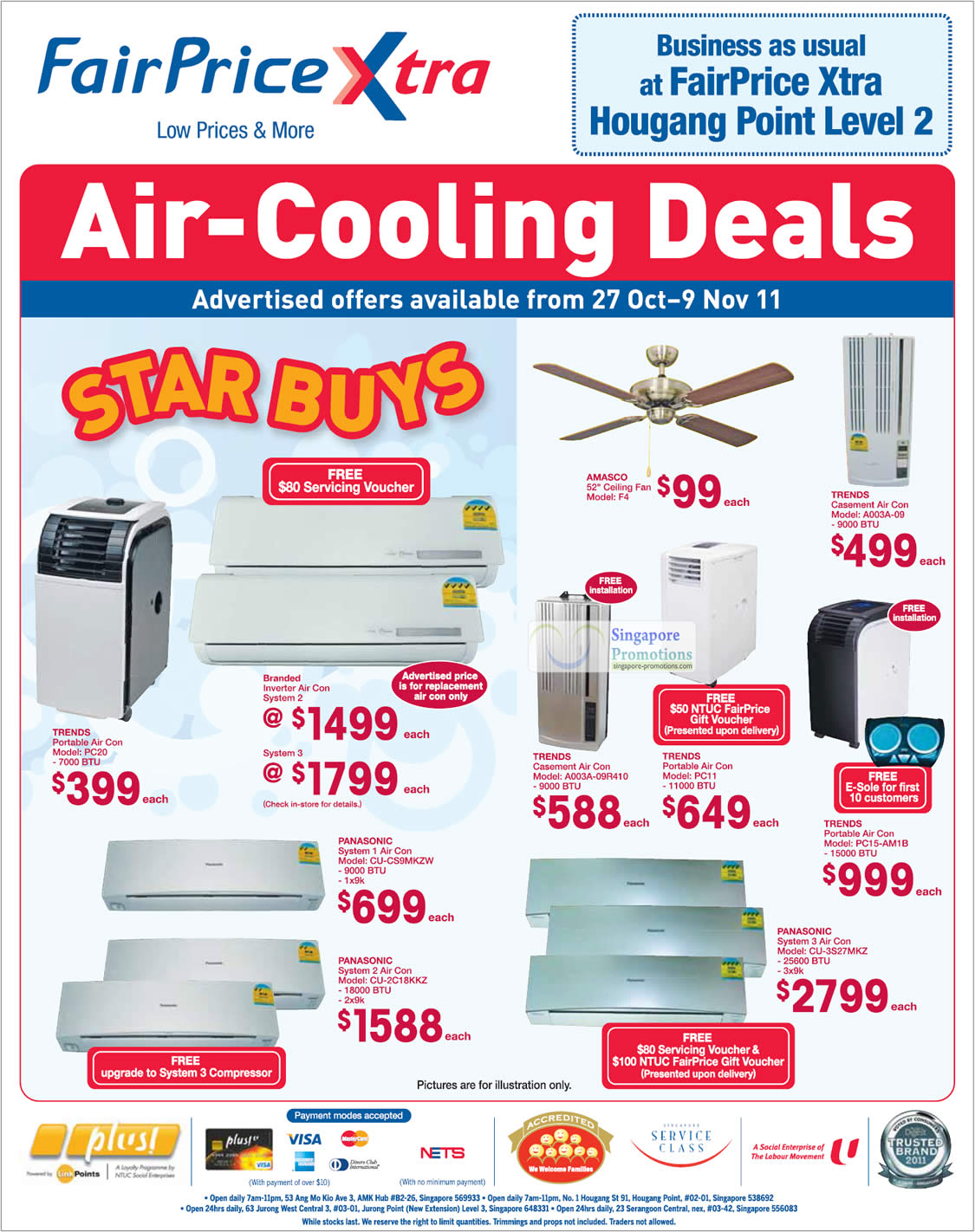 Ntuc Fairprice Cooling Home Appliances Special Offers