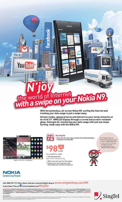Nokia N9 Singtel » Singtel Mobile Phones, Tablets, Home