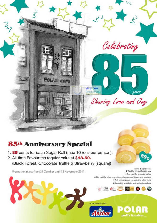 Featured image for Polar Puffs & Cakes 85th Anniversary Special Offers Promotion 31 Oct – 13 Nov 2011
