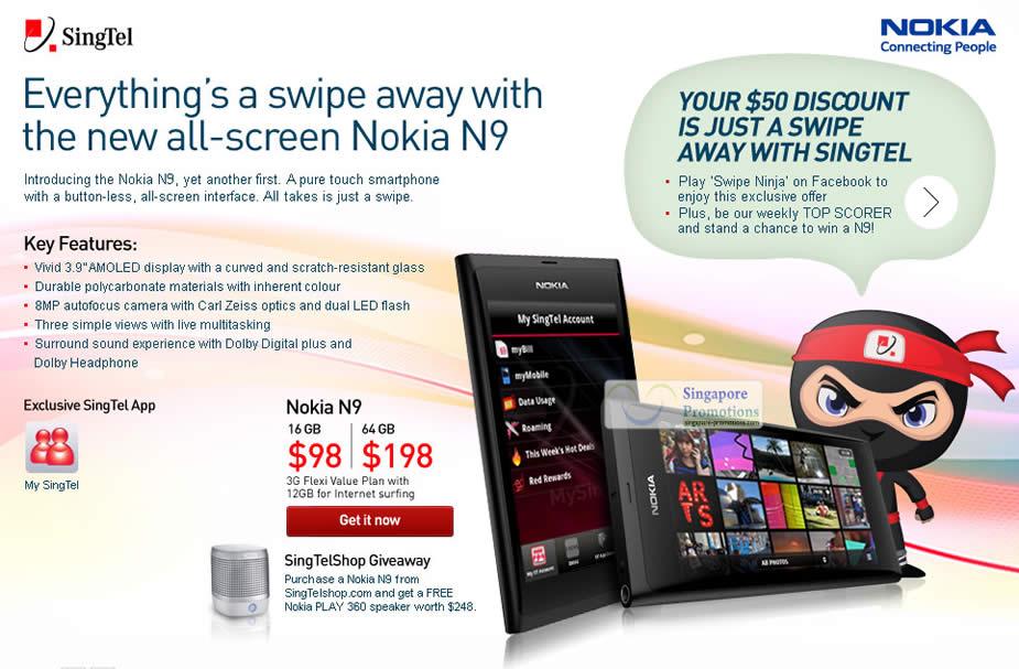 Singtel Buy Nokia N9 & Get A Free Nokia Play 360 Speaker 20