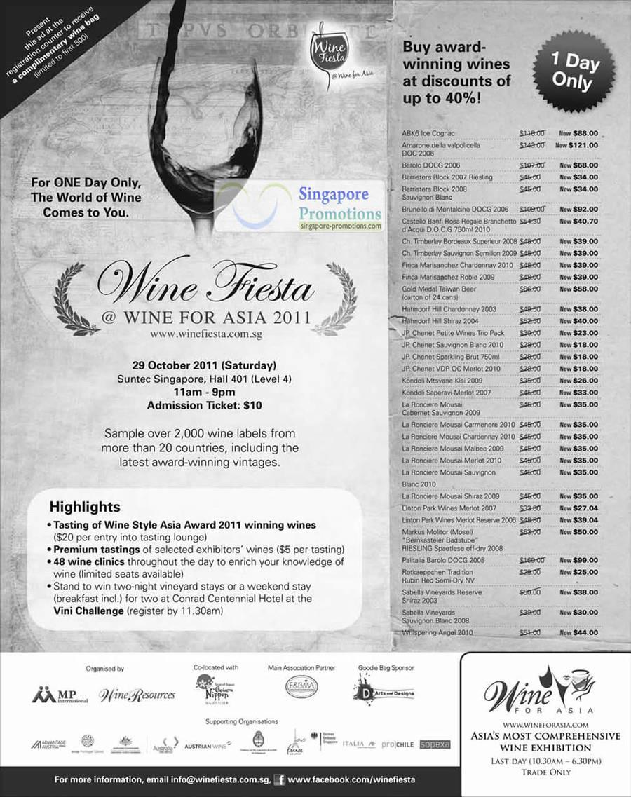 Wine Fiesta 28 Oct 2011