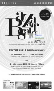Featured image for alldressedup & The Link Bazaar Sale Up To 80% Off 1 – 4 Nov 2011
