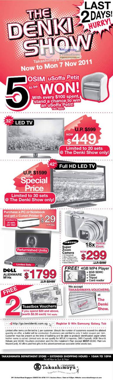 6 Nov Dell Alienware M14x, TV