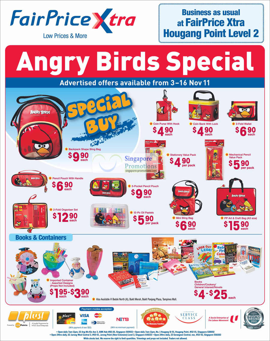 Angry Birds backpack, purse, coin bank, wallet, sling bag