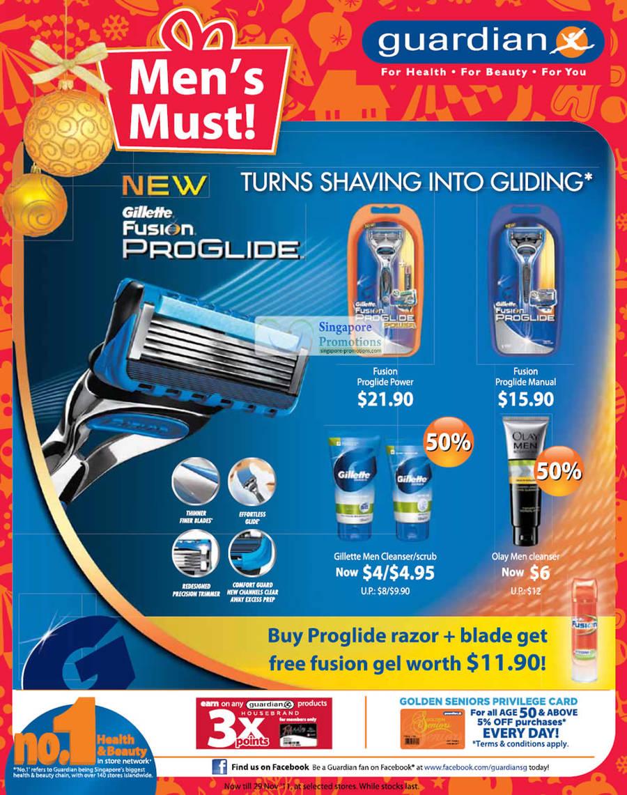 Gillette Fusion ProGlide Razor, Gillette Fusion Proglide Power, Gillette Fusion Proglide Manual