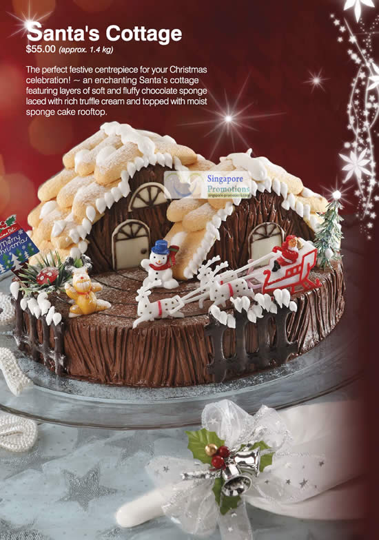 Santas Cottage Chocolate Spong Cake