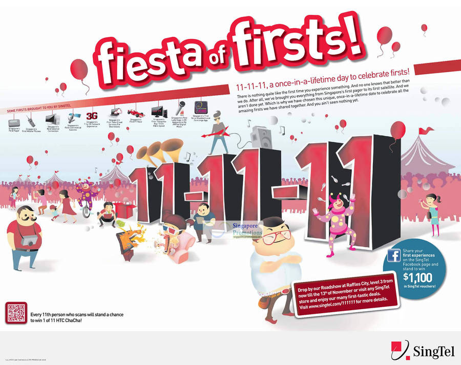Singtel Firsts, Raffles City Roadshow