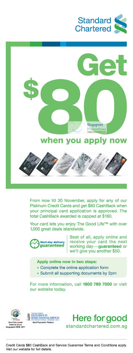 Standard Chartered Bank Singapore Get 80 Cashback For Applying
