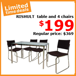 ikea singapore rishult table four chairs promotion deal 26 30