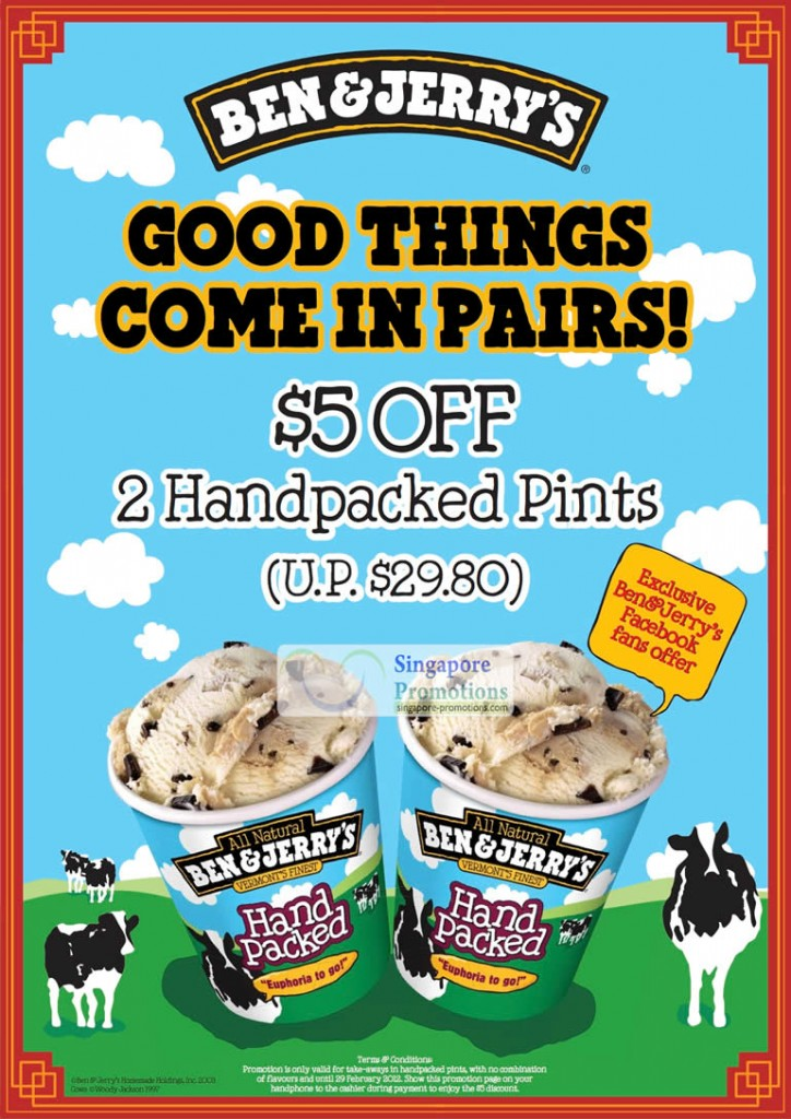 Five Dollars Off 2 Handpacked Pints