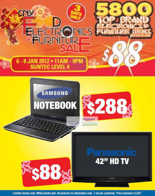 Samsung Netbook, Panasonic 42 HD TV