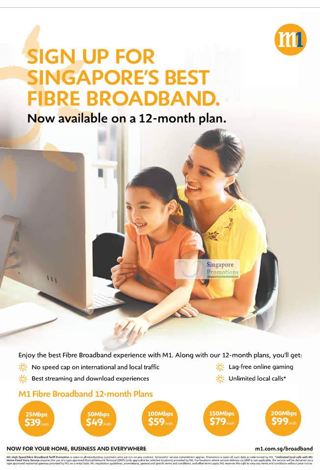 Fibre Broadband, 12 Month Plan