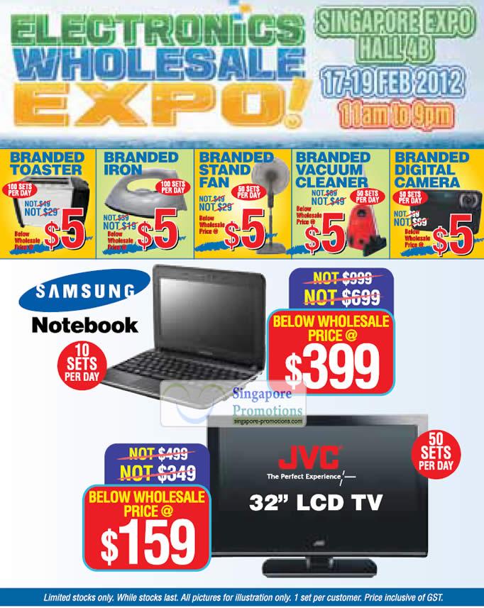 Five Dollar Deals, Samsung Notebook, JVC 32 LCD TV