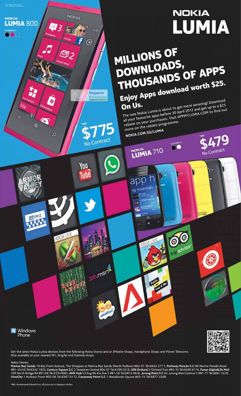 Lumia 800, Lumia 710
