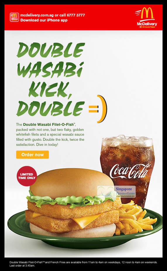 Mcdonalds 25 feb 2012 mcdonald s singapore double wasabi for Filet o fish deal