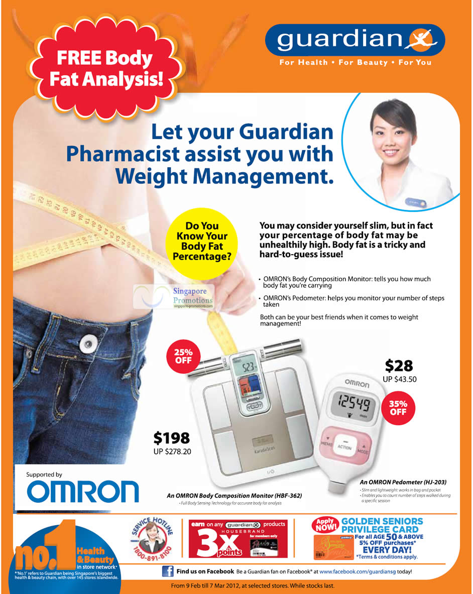 Omron Body Composition Monitor, Omron Pedometer