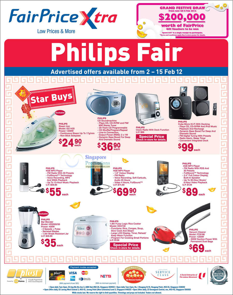 PHILIPS Steam Iron GC1420, PHILIPS Bar Blender HR2000/50, PHILIPS Rice Cooker HD4746, PHILIPS Vacuum Cleaner FC8188