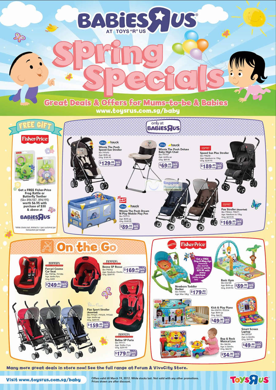 Toys R Us Babies R Us Spring Specials 16 Feb 19 Mar 2012