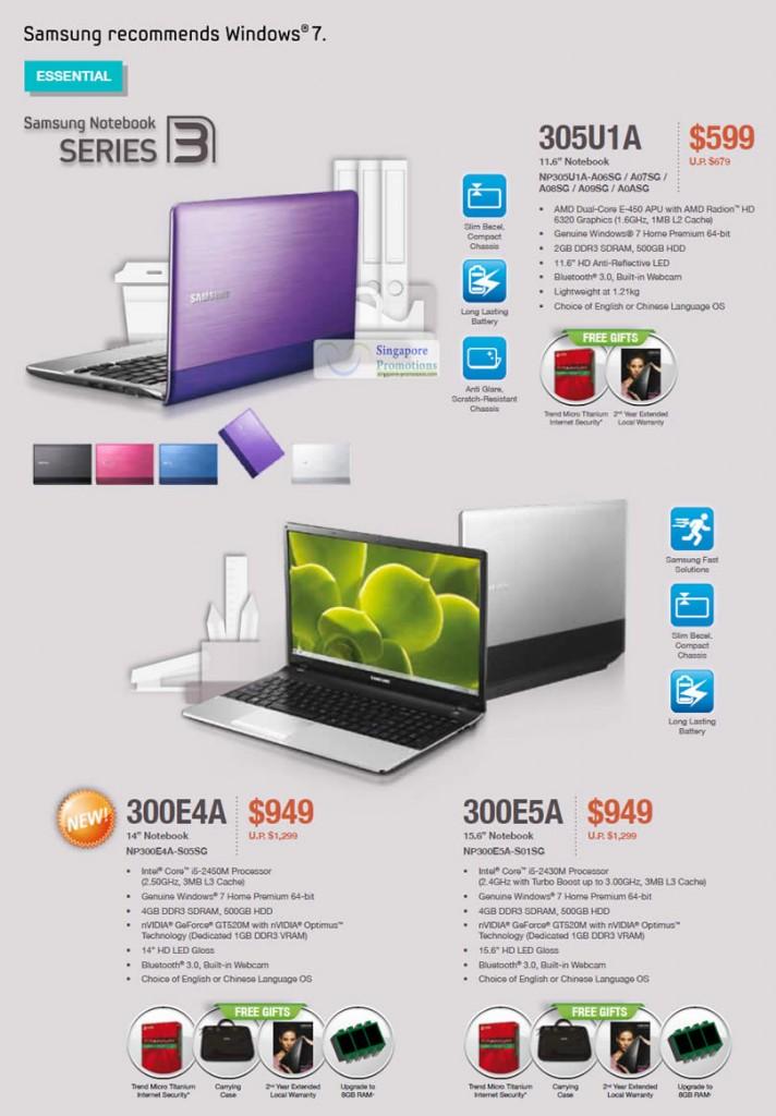 Samsung 305U1A NP305U1A-A06SG Notebook, Samsung 305U1A NP305U1A-A07SG Notebook, Samsung 305U1A NP305U1A-A08SG Notebook, Samsung 305U1A NP305U1A-A09SG Notebook, Samsung 305U1A NP305U1A-A0ASG Notebook, Samsung 300E4A NP300E4A-S05SG Notebook, Samsung 300E5A NP300E5A-S01SG Notebook