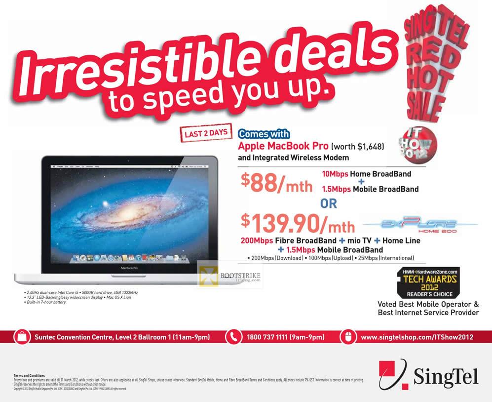 Singtel Broadband ADSL 10Mbps 1 5Mbps Home Broadband Mobile