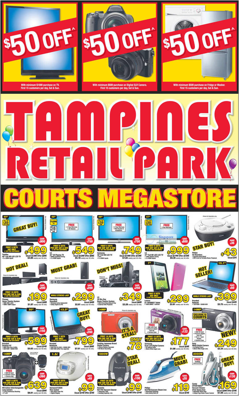 Kenwood RJ625 Rice Cooker, Rowenta RO1755 Vacuum Cleaner, Philips GC3760 Ecocare Steam Iron, Candy CFV2016003 Vacuum Cleaner, Sony DSC-W620 Digital Camera, Lenovo A1-59306927 Tablet