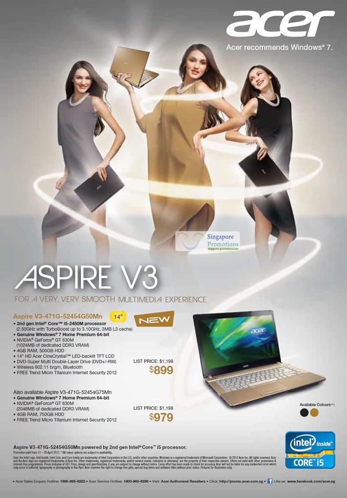 Acer Aspire V3-471G-52454G50Mn Notebook, Acer Aspire V3-471G-52454G75Mn Notebook