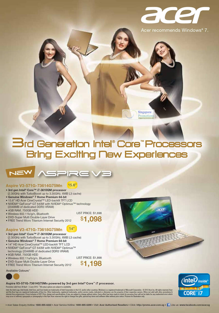 Acer Aspire V3-571G-73614G75Mn Notebook, Acer Aspire V3-471G-73618G75Mn Notebook