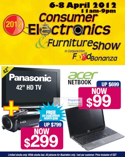 Event Details, Acer Netbook, Panasonic 42 HD TV