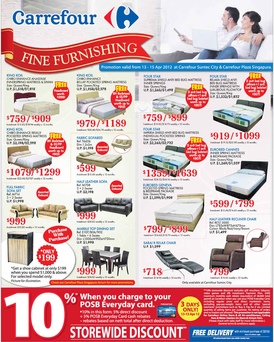 King Koil Chiro Enhance Anastase Mattress, King Koil Chiro Enhance Bellay Mattress, King Koil Chiro Enhance Reuilly Mattress, Four Star Suprema Shield Mattress, Four Star Relaxa Shield Mattress, Eurobed Cannes Mattress, Four Star Imperia Shield Mattress, Eurobed Geneva Mattress, Sabai R7 Relax Chair