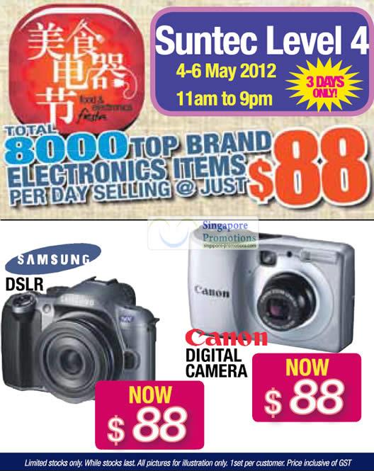 Samsung DSLR, Canon Digital Camera