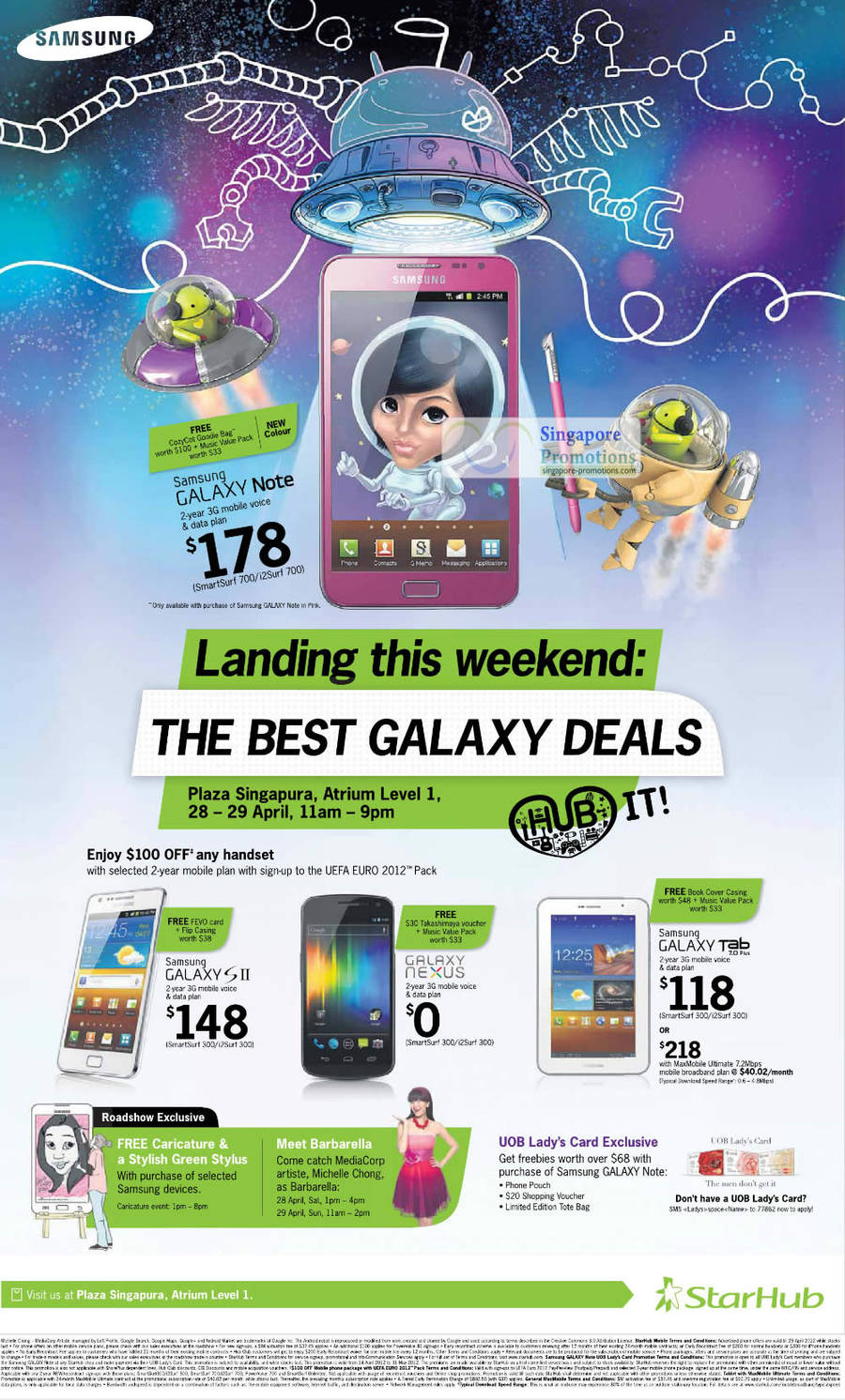 Samsung Galaxy Note, Galaxy S II, Galaxy Nexus, Galaxy Tab 7.0 Plus