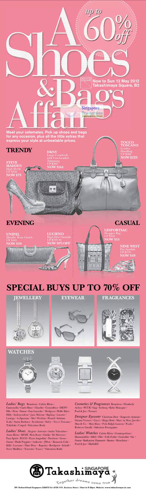 bb237f70f50d Takashimaya A Shoes   Bags Affair Up To 60% Off Promotion 26 Apr – 13 May  2012 UPDATED 11 May 2012