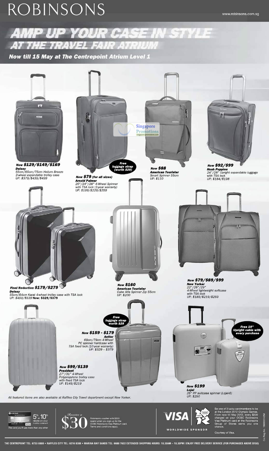 10 May Luggage Spinner American Tourister Hush Puppies