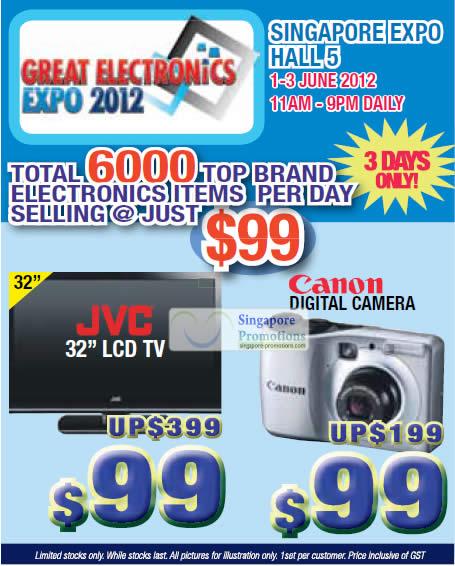 30 May JVC 32 LCD TV, Canon Digital Camera